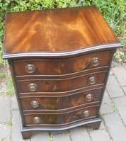 SOLD Small Serpentine Front Mahogany Chest of Drawers